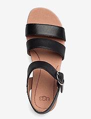 UGG - W Leedah - platte sandalen - black lth - 3