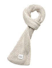 W CHUNKY RK SCARF - LIGHT GREY