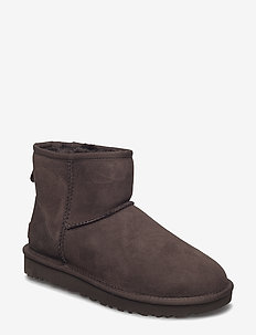 W Classic Mini II - flat ankle boots - chocolate