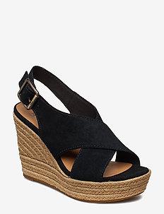 W Harlow - heeled espadrilles - black