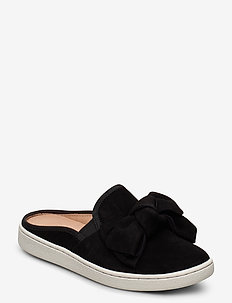 W Luci Bow - mules & slipins - black