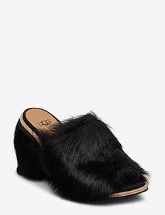 W Rosa Fluff Heel - BLACK