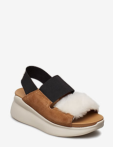 W Silverlake - flat sandals - chestnut/natural
