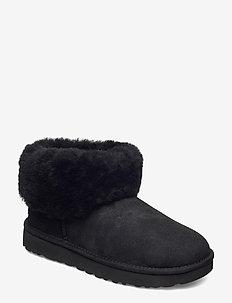 W Classic Mini Fluff - flade ankelstøvler - black