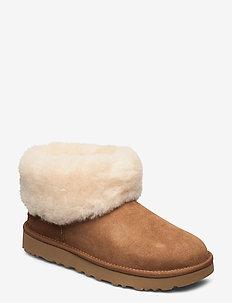 W Classic Mini Fluff - flade ankelstøvler - chestnut