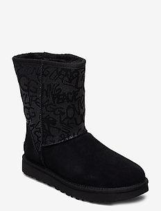 W Cl Shrt Sprkl Graf - flade ankelstøvler - black