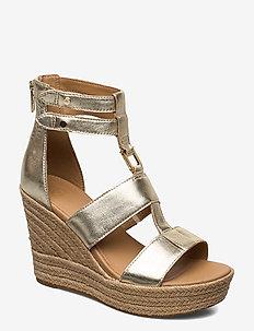W Kolfax - heeled espadrilles - gold