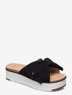 W Joanie - platta sandaler - black