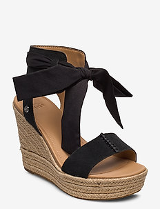 W Wittley - heeled espadrilles - black