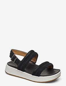 Lynnden - flat sandals - black