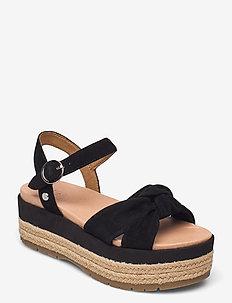 W Trisha - platte sandalen - black suede