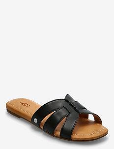 W Teague - platte sandalen - black lth