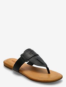 W Gaila - platte sandalen - black lth