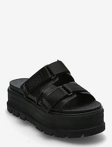 W Clem - platte sandalen - black lth