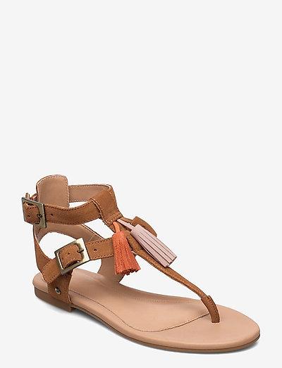 W Lecia - flade sandaler - chestnut