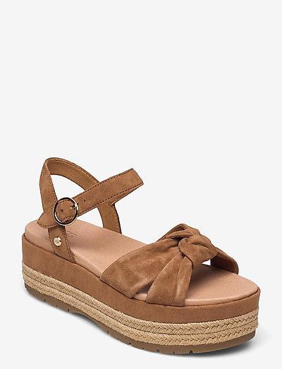 W Trisha - flade sandaler - chestnut suede