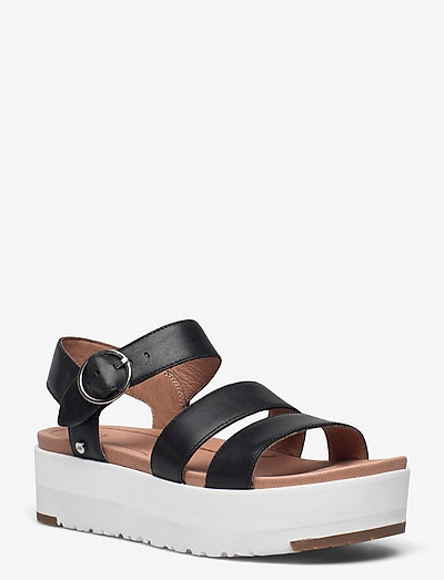 W Leedah - flade sandaler - black lth