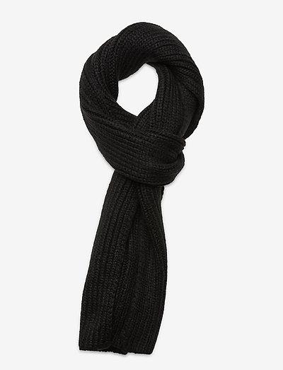 W CHUNKY RK SCARF - halstørklæder - black