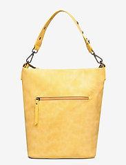 Ulrika - Perforated Shoulder Bag - bucket bags - yellow - 1