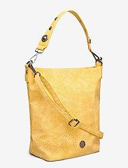 Ulrika - Perforated Shoulder Bag - bucket bags - yellow - 2