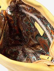 Ulrika - Perforated Shoulder Bag - bucket bags - yellow - 3