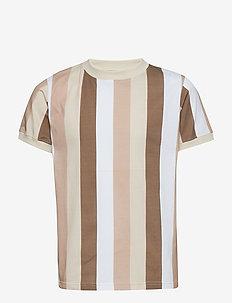 Devon T-shirt - SESAME BROWN