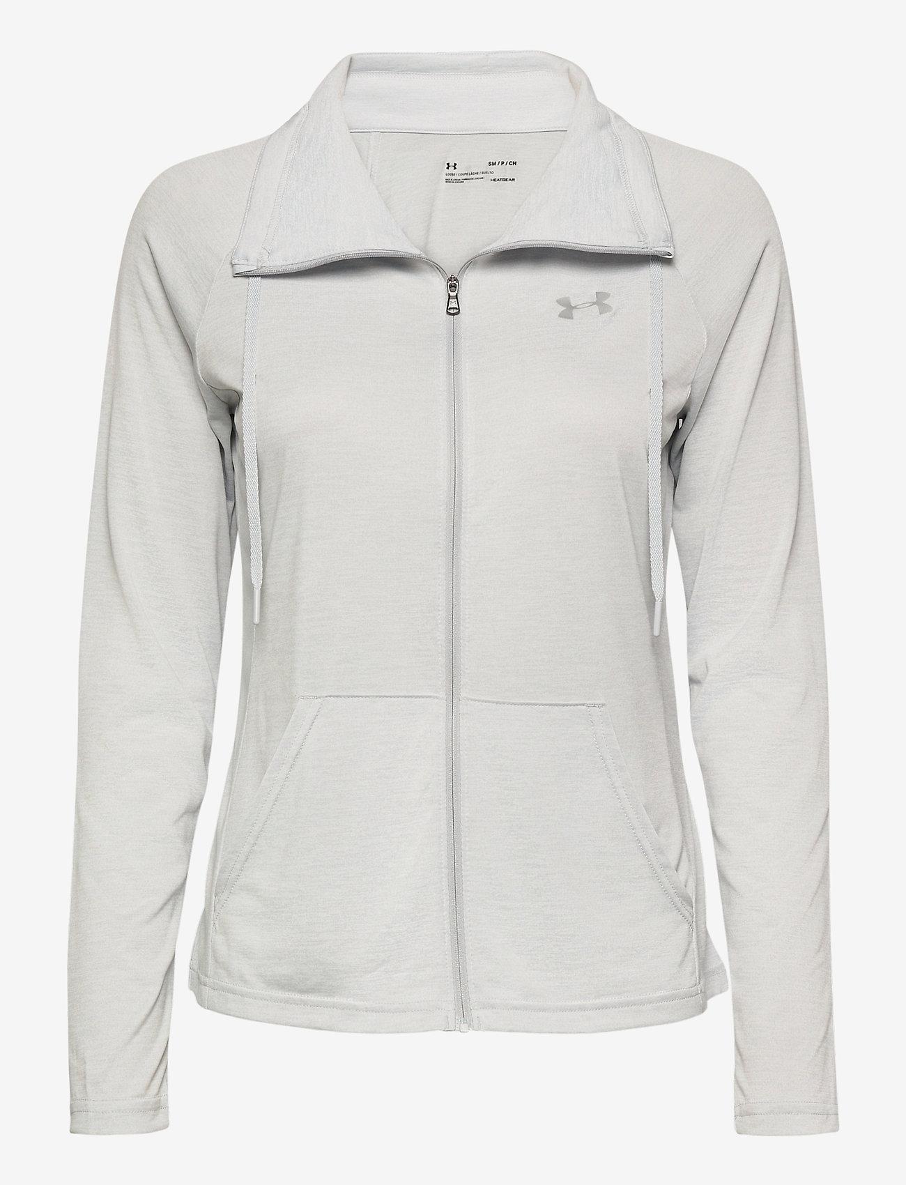 Under Armour - Tech Full Zip Twist - sweatshirts - halo gray - 0