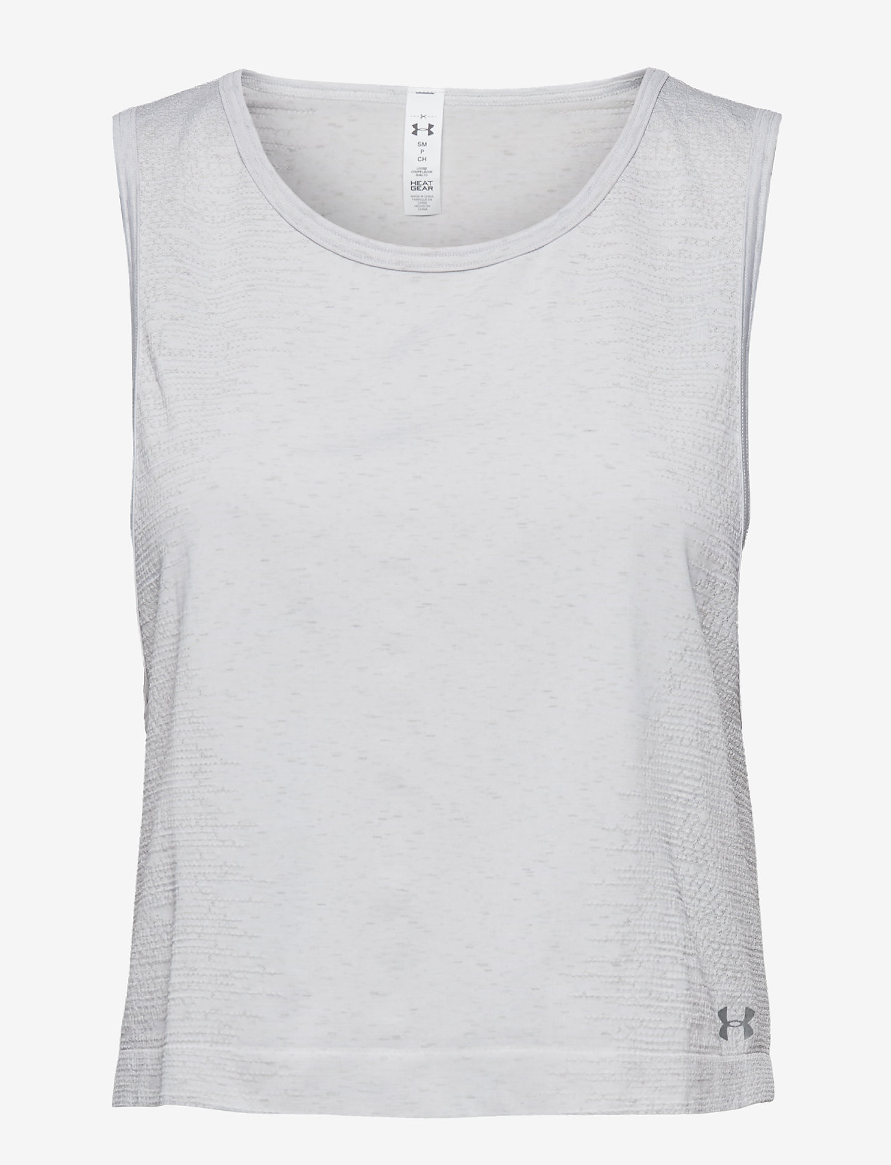 Under Armour - TB SEAMLESS MUSCLE SPACEDYE TANK - crop-topit - white