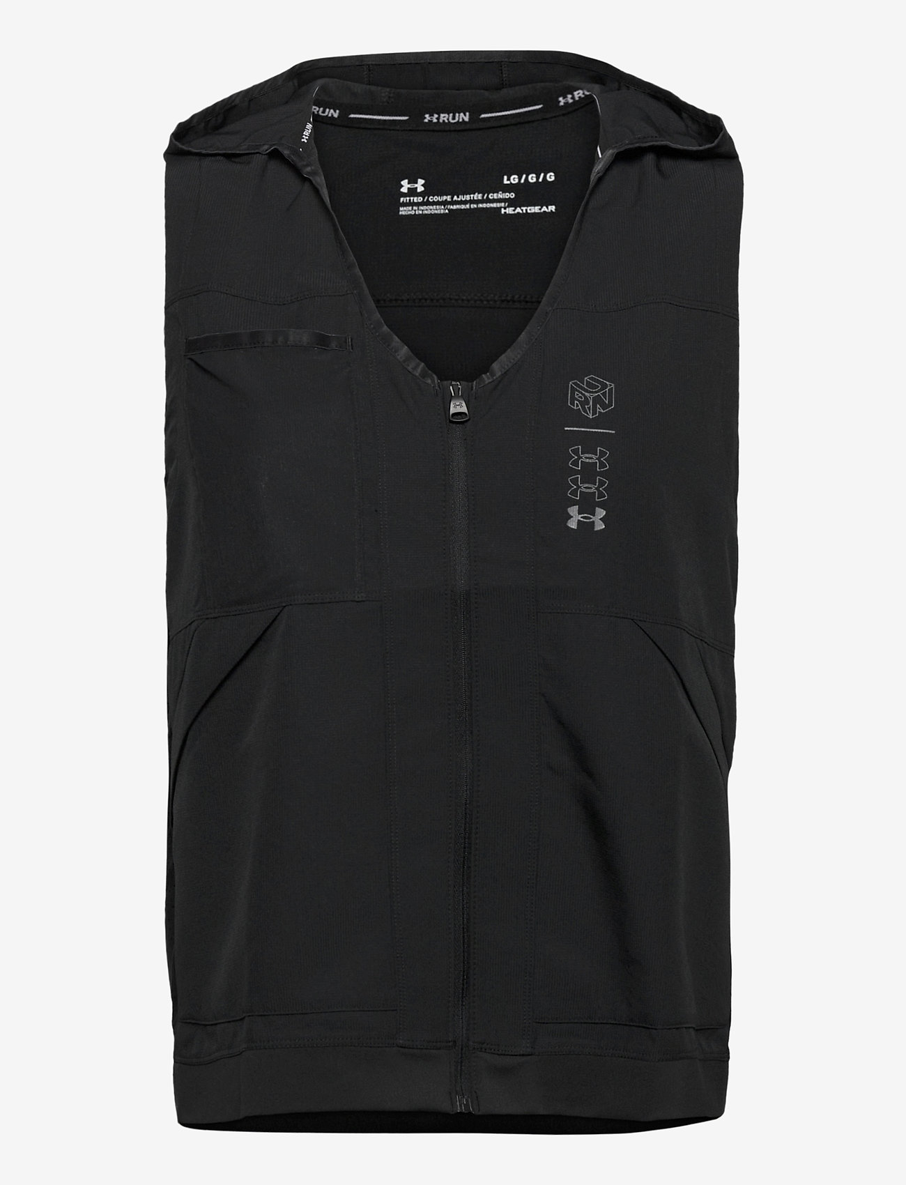 Under Armour - UA Run Anywhere Vest - gevoerde vesten - black - 0