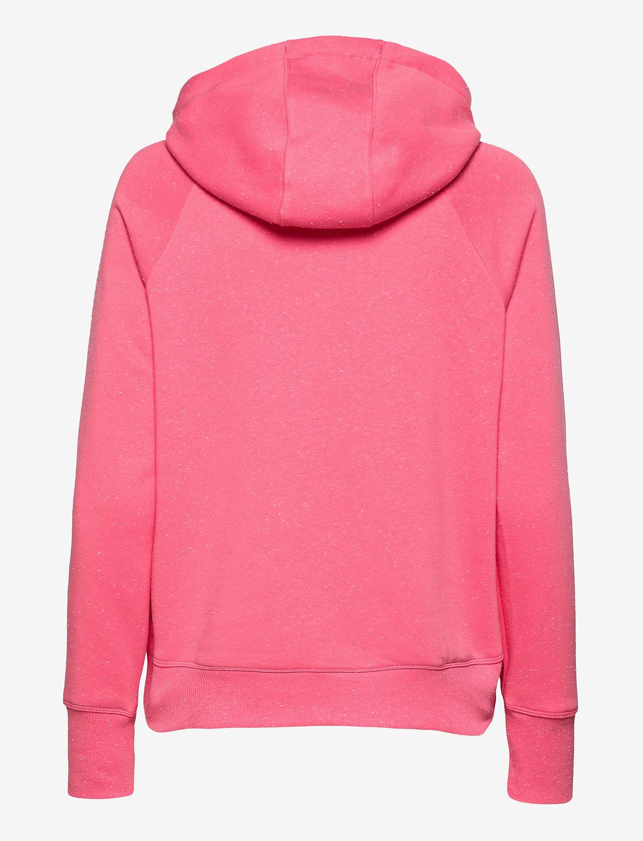 Under Armour - Rival Fleece Metallic Hoodie - huvtröjor - pink lemonade - 1