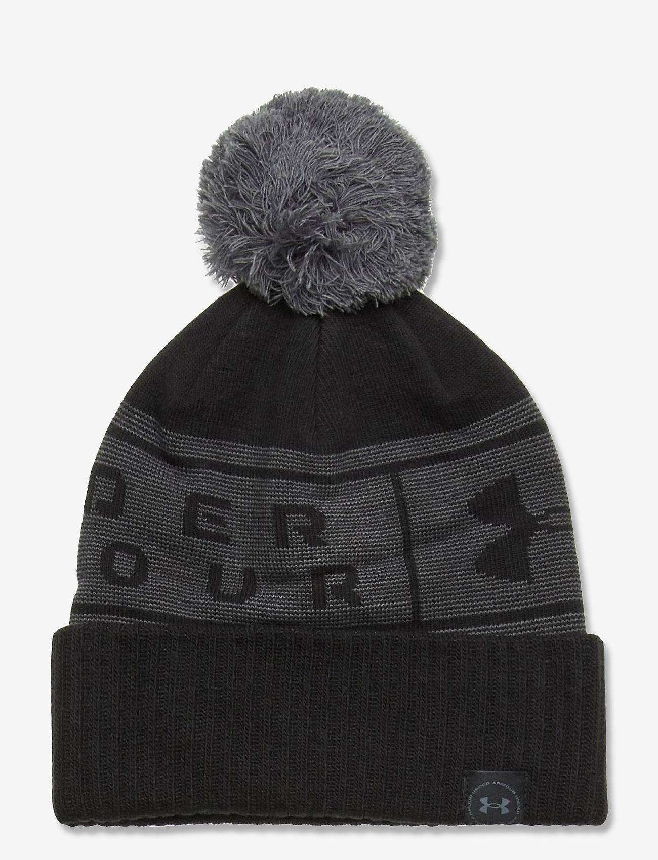 Under Armour - UA Big Logo Pom Beanie - bonnet - black - 0