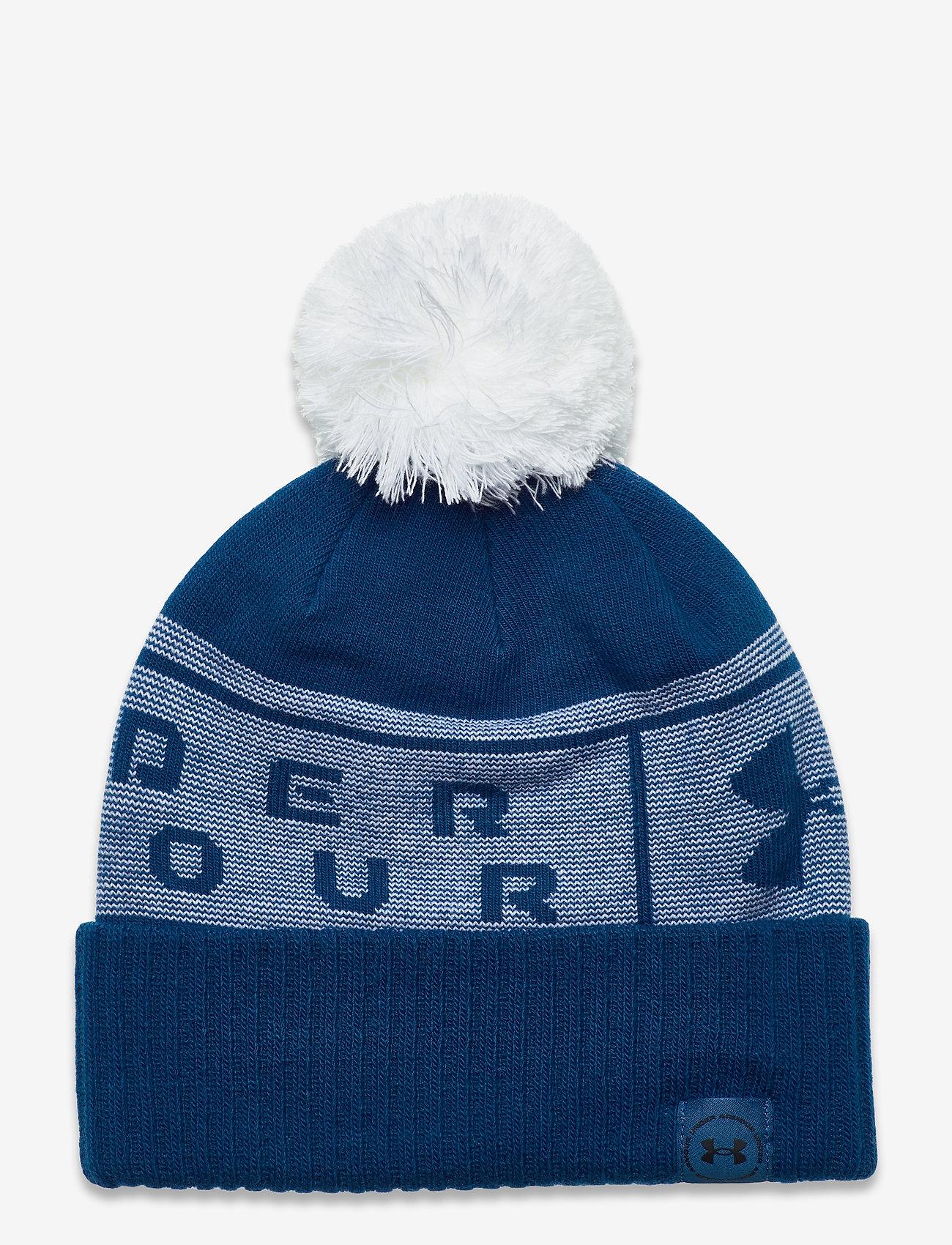 Under Armour - UA Big Logo Pom Beanie - bonnet - graphite blue - 0