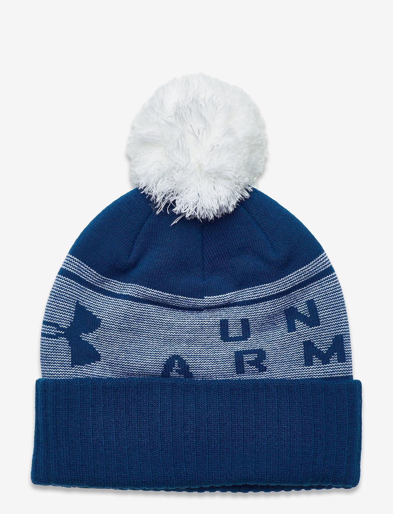 Under Armour - UA Big Logo Pom Beanie - bonnet - graphite blue - 1