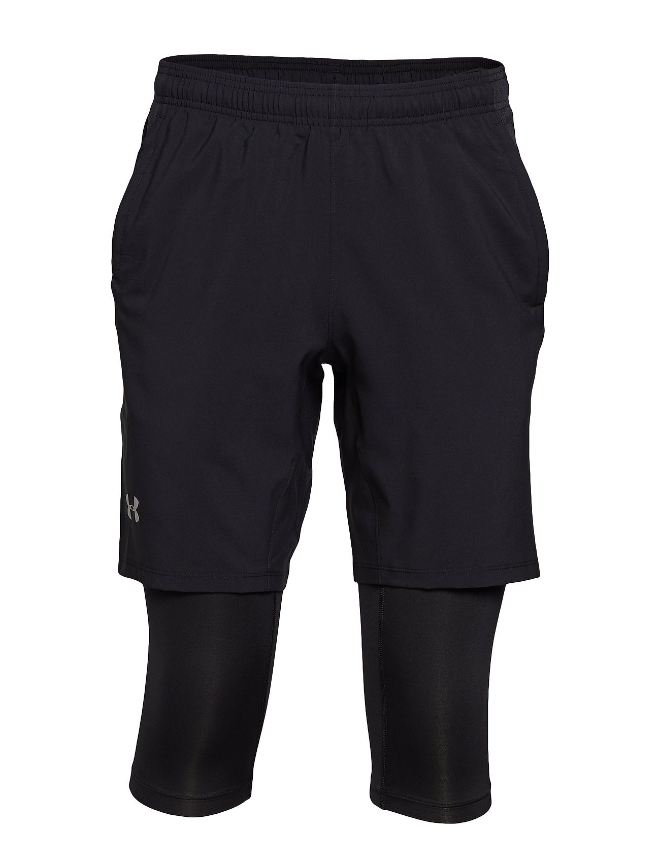 Under Armour UA LAUNCH SW 2-IN-1 LONG SHORT - BLACK