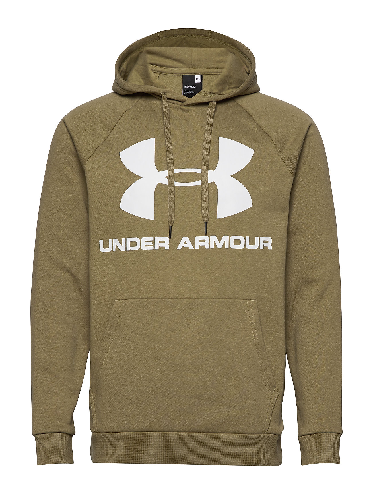 Under Armour RIVAL FLEECE SPORTSTYLE LOGO HOODIE - OUTPOST GREEN