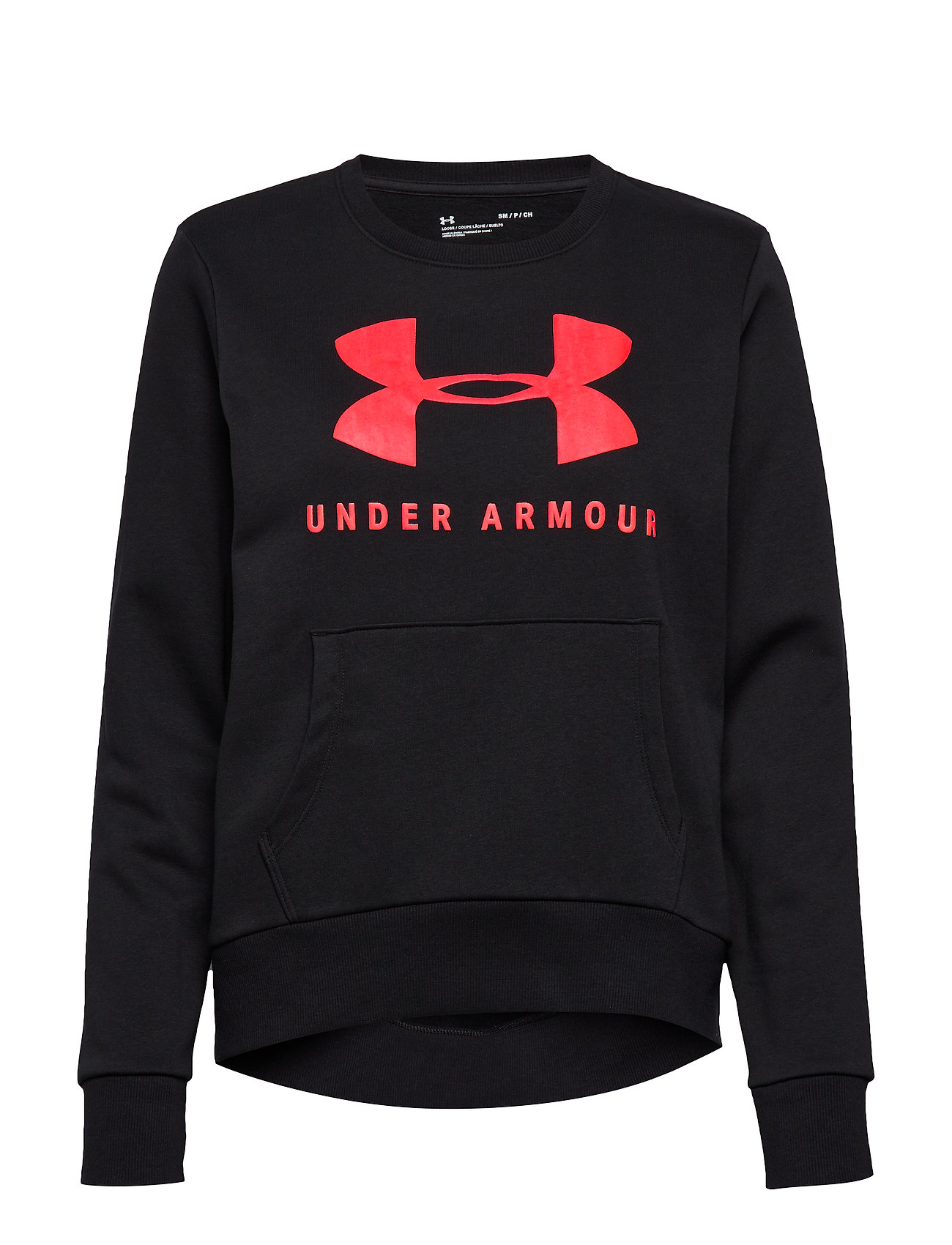 Under Armour 12.1 RIVAL FLEECE SPORTSTYLE GRAPHIC CREW - BLACK