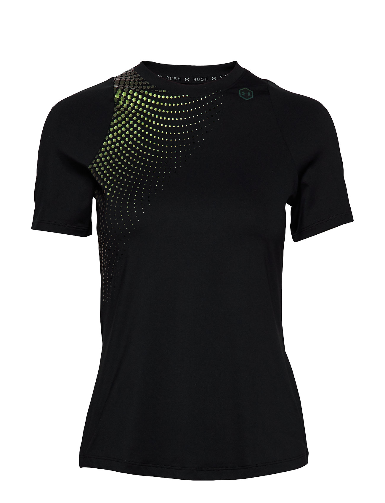 Under Armour UA RUSH SS HEX OMBRE GPH - BLACK