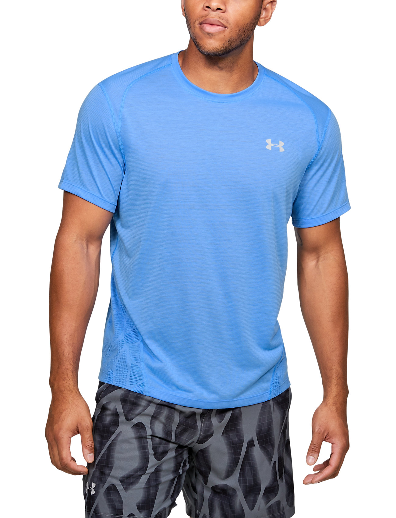 Under Armour - M UA Streaker 2.0 Shift Crew - urheilutopit - water