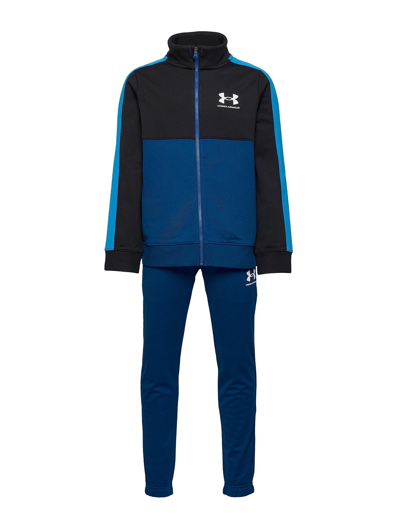 Ua Cb Knit Track Suit Tracksuit Blå Under Armour