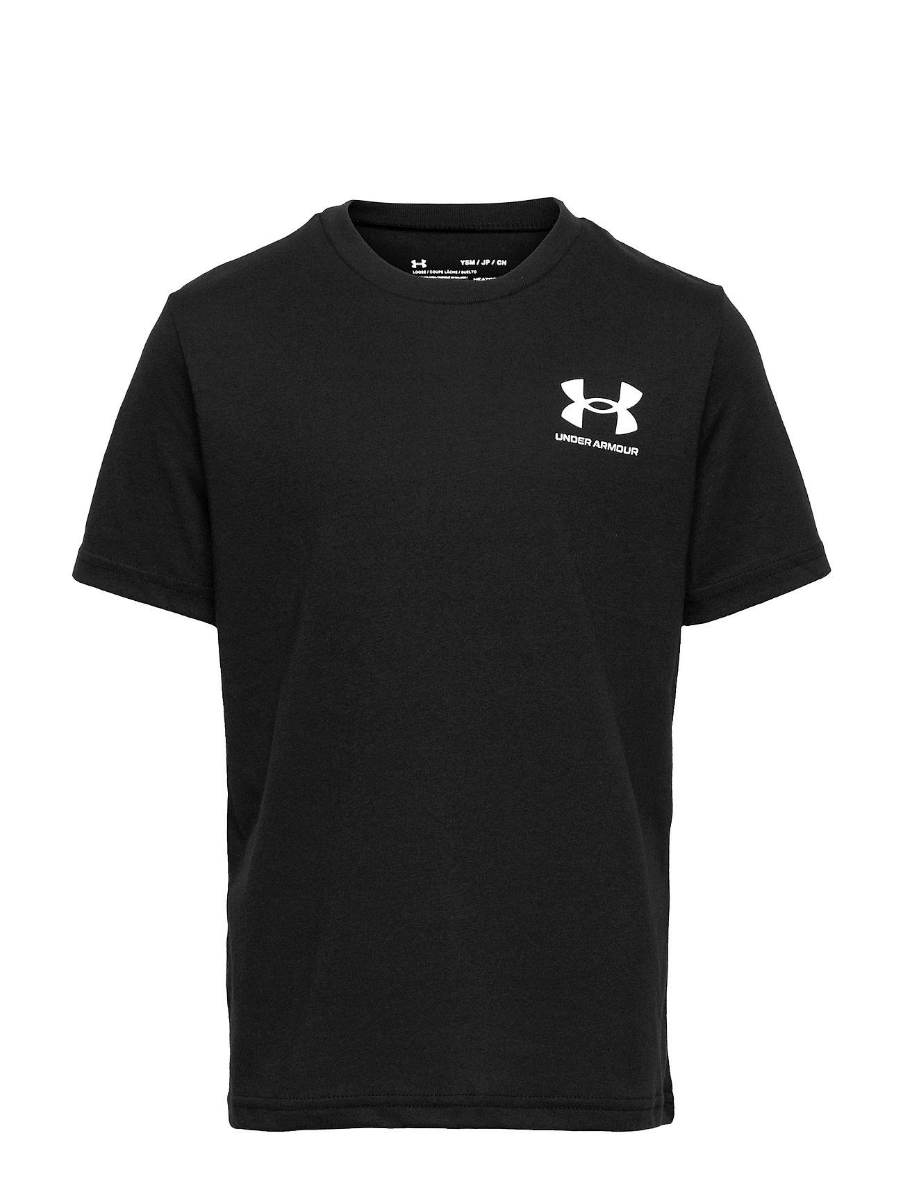 Ua Sportstyle Left Chest Ss T-shirt Ærmeløs Sort Under Armour