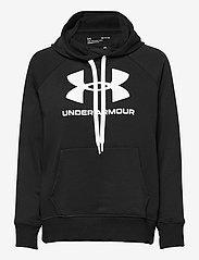 Under Armour - Rival Fleece Logo Hoodie - huvtröjor - black - 0