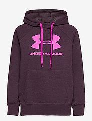 Under Armour - Rival Fleece Logo Hoodie - huvtröjor - polaris purple - 0