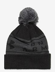 Under Armour - UA Big Logo Pom Beanie - bonnet - black - 1