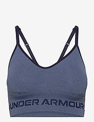 Under Armour - UA Seamless Low Long Htr Bra - sport bras: low - mineral blue - 0