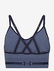 Under Armour - UA Seamless Low Long Htr Bra - sport bras: low - mineral blue - 1
