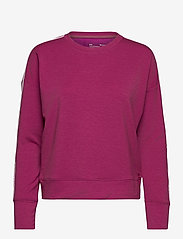 Under Armour - UA Rival Terry Taped Crew - sweatshirts - meteor pink - 0