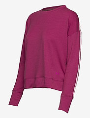 Under Armour - UA Rival Terry Taped Crew - sweatshirts - meteor pink - 2