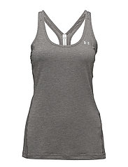 UA HG ARMOUR RACER TANK - CHARCOAL LIGHT HEATHER