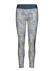 UA HG ARMOUR PRINTED LEGGING - TOURMALINE TEAL