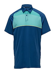 THREADBORNE INFINITE POLO - MOROCCAN BLUE